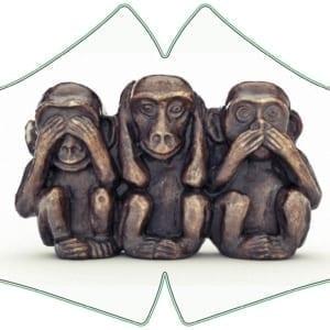 mascherina tre scimiette